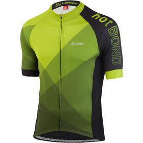Löffler hotBOND Full-Zip Bike Jersey Men, geel